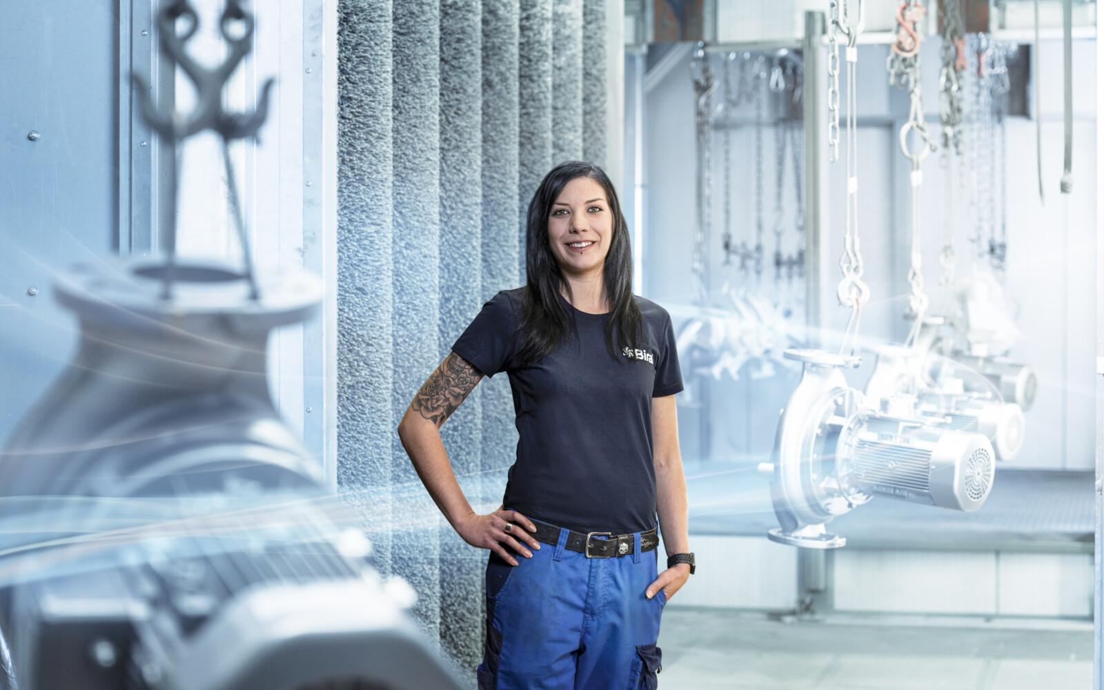 Stefanie Wetli, medewerker Reparatie